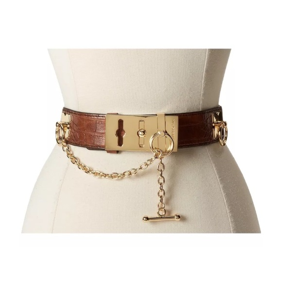1c2d53e5d BCBG ❤ WAIST BELT TOGGLE GOLD CHAIN BROWN. Boutique. BCBGMaxAzria